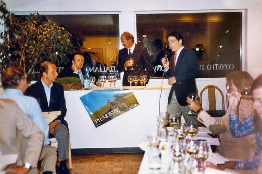 Seth Allen introducing Neil Empson and winemaker Angelo Gaja
