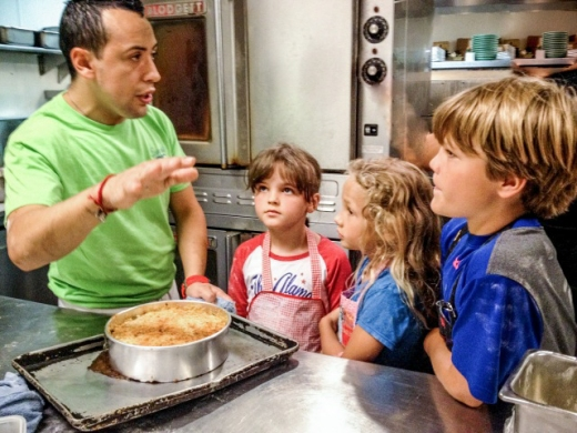 Chef Noe with Neko Barocci and Kianna & Kingston Warner (Nancy's grandchildren)