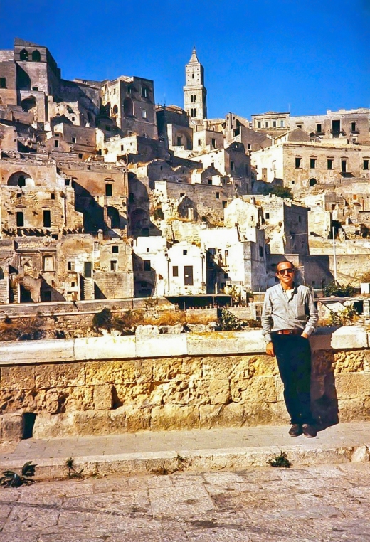 Paolo in front of ancient Matera