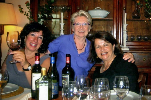 Dorene, Nancy & Linda at lunch in Frescobaldi private dining room