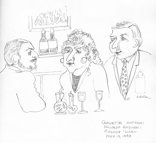 Karen Butler sketch of Cantinetta Antinori © Karen Butler