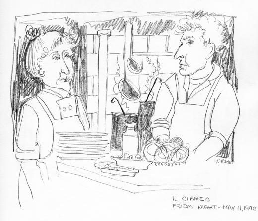 Karen Butler sketch of Cibreo @ Karen Butler