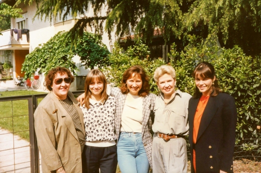 Nancy and Leslee with Giannola, Antonella and Betty Nonino