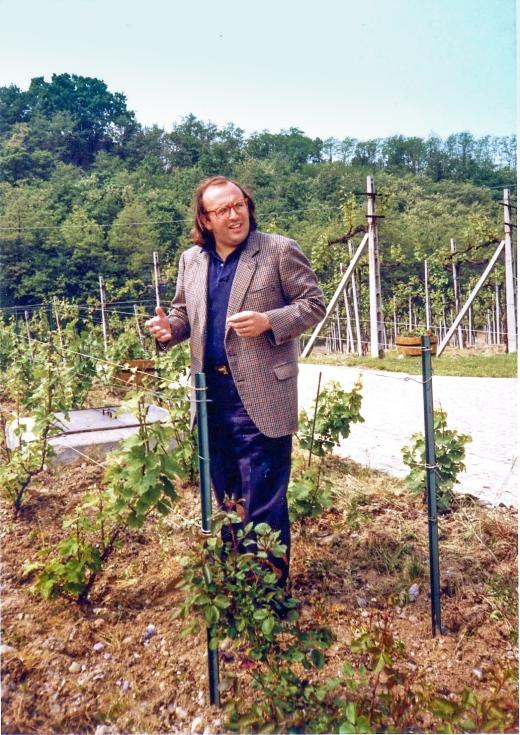 Maurizio in his vineyard