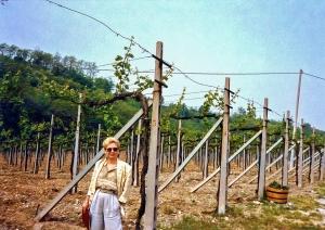 Nancy in Ca 'del Bosco vineyard