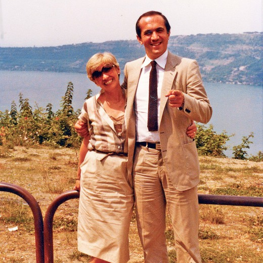 Paolo and I in Lago Maggiore where we officially formed our partnership or Lazio – together in front of a lake – I think I like this one best