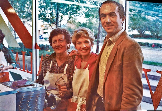 with my two Milanese partners, Wanda Bottino and Paolo Volpara in our first shop in 1980