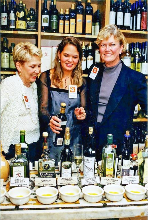 Nancy, Colleen and I tasting olive oil