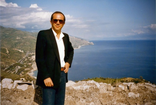Paolo at the shore in Messina