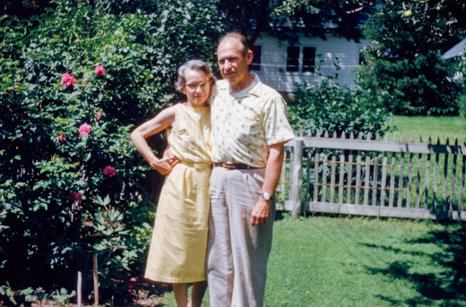 Ray and Thelma (aka Mom & Dad) in the garden