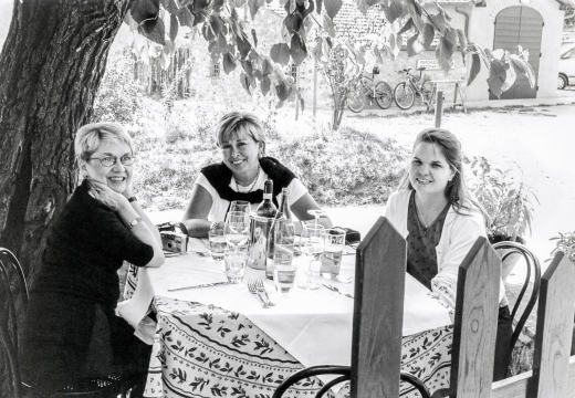 Nancy Harris, Candace and I at Osteria la Piazza