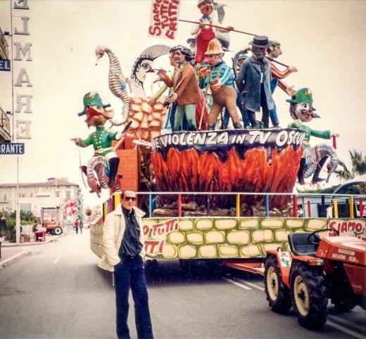Paolo at Viareggio's Carnevale