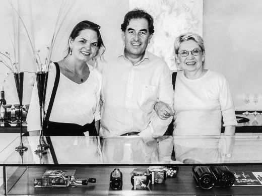 Terrabianca estate: Candace and Nancy with Roberto Guldener