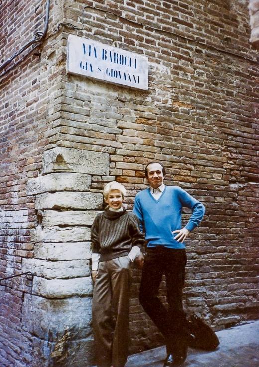 Paolo and I on Via Barocci