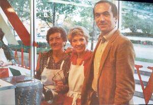 Vanda, Paolo and I in the original Convito Italiano